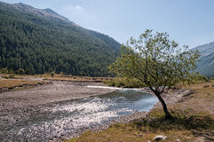 Paisaje de las montañas italianas Fotografía de archivo