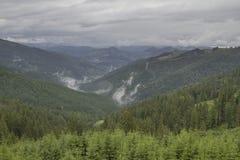 Paisaje de las montañas de Rarau fotos de archivo libres de regalías