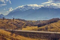 Paisaje de las montañas de Bucegi Imagen de archivo libre de regalías