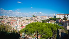 Paisaje de Lisboa Portugal en el día fotos de archivo