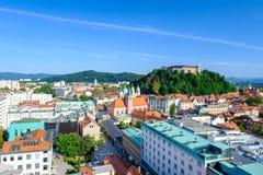 Paisaje de Ljubljana Imagen de archivo libre de regalías