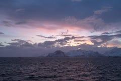 Paisaje de Lofoten fotografía de archivo