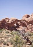 Paisaje de los arcos parque nacional, Utah Imágenes de archivo libres de regalías