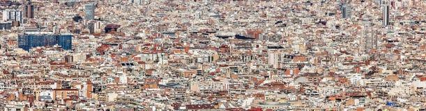 Paisaje de los edificios de Barcelona fotografía de archivo libre de regalías