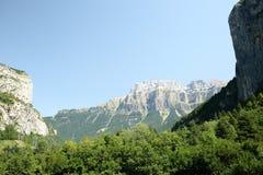 Paisaje de los Pirineos Fotografía de archivo