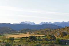 Paisaje de los Pirineos Foto de archivo