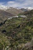 Paisaje de los pueblos del Alpujarras, Andalucía, España fotos de archivo