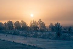 Paisaje de los Urales meridionales en invierno foto de archivo libre de regalías