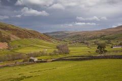 Paisaje de los valles de Yorkshire Fotografía de archivo
