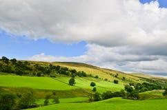 Paisaje de los valles de Yorkshire Fotografía de archivo libre de regalías