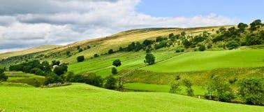 Paisaje de los valles de Yorkshire fotos de archivo libres de regalías