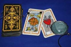 Paisaje de los vidrios de las cartas de tarot fotos de archivo libres de regalías