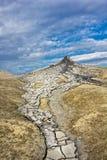 Paisaje de los volcanes del fango Fotografía de archivo