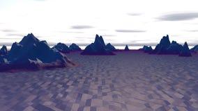 Paisaje de Lowpoly con las colinas polares del norte Fotos de archivo