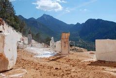 Paisaje de mármol de la mina Fotografía de archivo