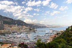 Paisaje de Mónaco Foto de archivo