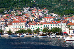 Paisaje de Makarska Riviera Fotos de archivo