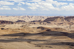 Paisaje de Makhtesh Ramón Desierto del Néguev Israel Fotos de archivo