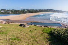Paisaje de marea de la piscina de la playa de Southbroom Foto de archivo libre de regalías
