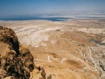 Paisaje de Masada Imagen de archivo libre de regalías