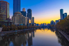 Paisaje de Melbourne imagenes de archivo