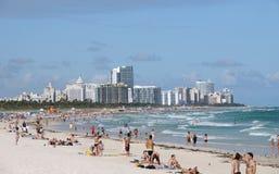 Paisaje de Miami Beach Fotos de archivo libres de regalías