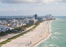 Paisaje de Miami Beach Imagenes de archivo