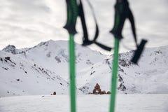 Paisaje de montañas nevosas imágenes de archivo libres de regalías