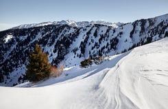 Paisaje de montañas nevosas fotografía de archivo libre de regalías