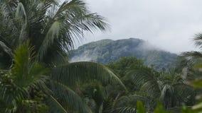Paisaje de montañas y del cielo Isla de Camiguin almacen de metraje de vídeo
