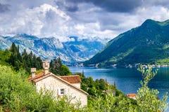 Paisaje de Montenegro Perast Fotos de archivo libres de regalías