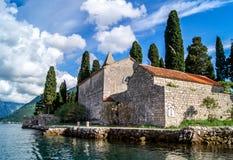 Paisaje de Montenegro Perast Imagenes de archivo