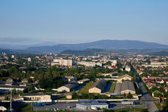 Paisaje de Mukachevo Oblast de Zakarpatska Foto de archivo