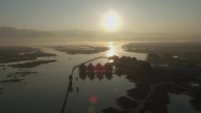 Paisaje de Myanmar almacen de metraje de vídeo