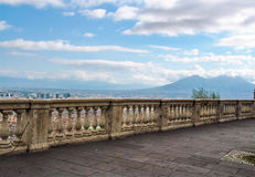 Paisaje de Nápoles de la terraza de San Martín Foto de archivo
