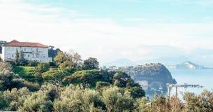 Paisaje de Nápoles, Posillipo Fotografía de archivo