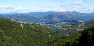 Paisaje de Navarra Fotografía de archivo