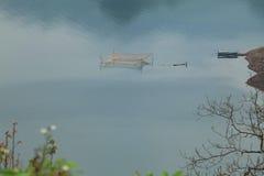 paisaje de niebla Fotografía de archivo