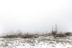 Paisaje de niebla del invierno Imagen de archivo libre de regalías
