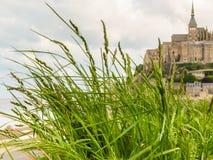 Paisaje de Normandía y de Mont Saint-Michel, Francia Imagen de archivo libre de regalías
