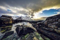 Paisaje de Norwgian Paisaje hermoso de la primavera de Noruega Fotos de archivo libres de regalías