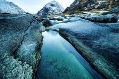 Paisaje de Norwgian Paisaje hermoso de la primavera de Noruega Imágenes de archivo libres de regalías