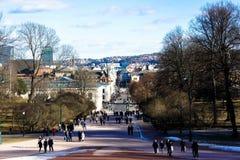 Paisaje de Oslo Fotografía de archivo libre de regalías