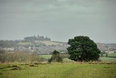 Paisaje de Oxfordshire en día cubierto Imagenes de archivo
