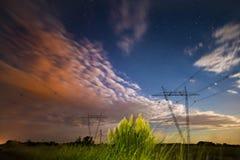 Paisaje de Pampa de la noche, Imagen de archivo libre de regalías