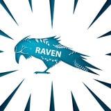 Paisaje de papel de la historieta Cuervo, ejemplo del cuervo libre illustration