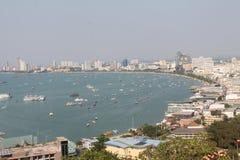 Paisaje de Pattaya, punto de opinión de Khao Pattaya imagenes de archivo