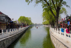 Paisaje de Pekín Shichahai, China Foto de archivo libre de regalías