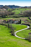Paisaje de Piedmont - Italia Foto de archivo