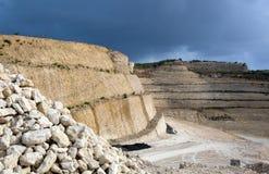 Paisaje de piedra de la mina Imagen de archivo libre de regalías